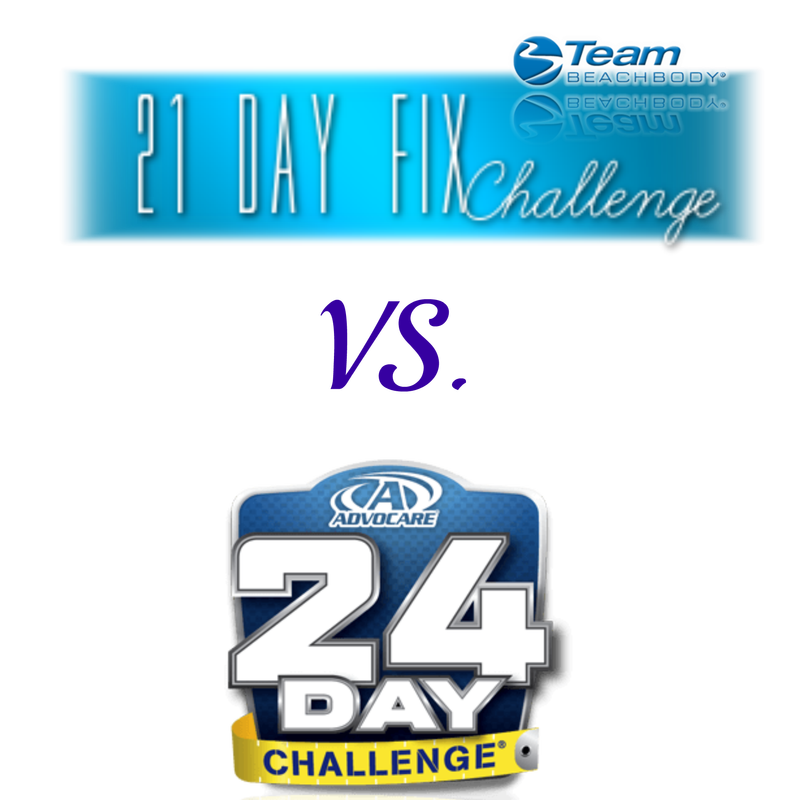 The 21 Day Fix Vs The Advocare 24 Day Challenge Fit Mama Mitchell